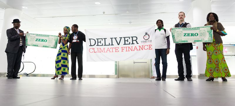 Climate finance stunt